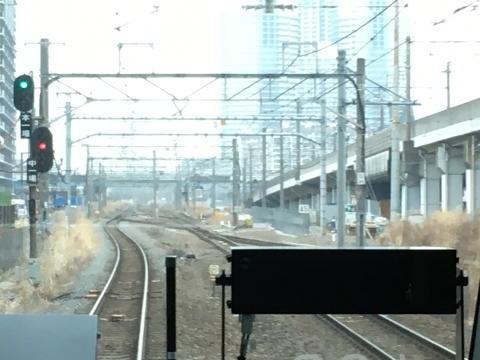 南武線からの連絡線の線路が合流