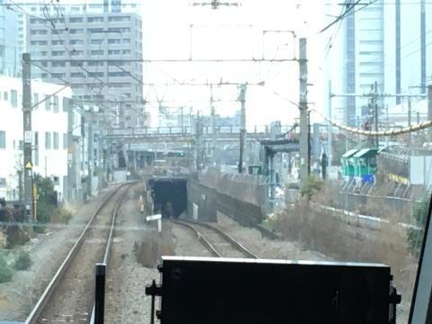 武蔵野貨物線のトンネル入り口