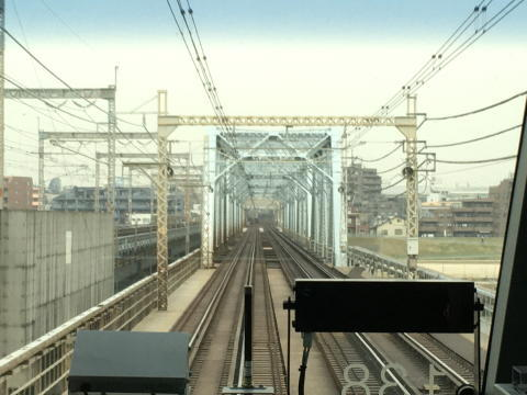 多摩川を渡るところ